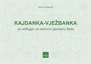 Naslovnica knjige Kajdanka-vježbanka za solfeggio za osnovnu glazbenu školu